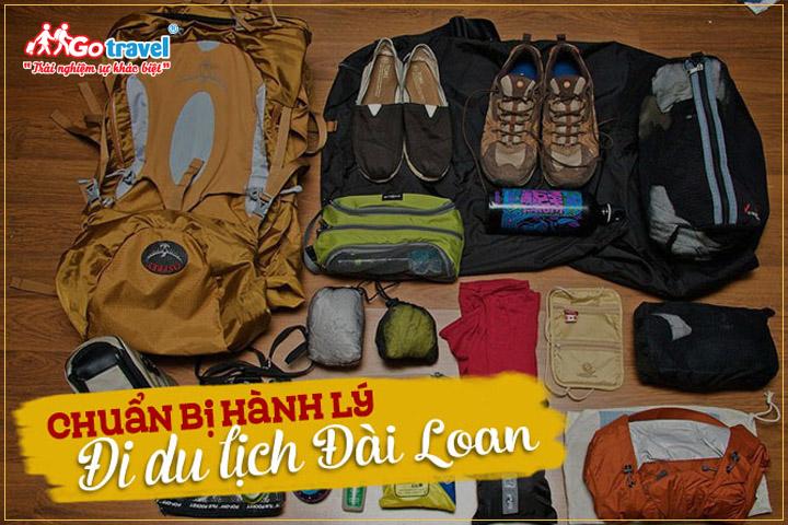 Chuẩn bị hành lý khi đi du lịch Đài Loan